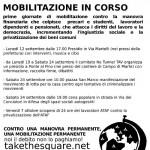 Volantino iniziative Firenze Bene Comune