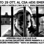 Sabato 29 ott - Il carcere manicomio
