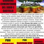 Firma per il giardino comunitario del Sodo e Castello