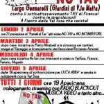 Presidio Notav a Firenze dal 2 aprile
