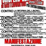Venerdì 22 sciopero generale e corteo