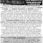 14 novembre sciopero generale  manifestazione h 9 piazza  S.Marco