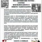 No al fascismo nelle nostre città: sab 13 h14.00 iniziativa a Prato