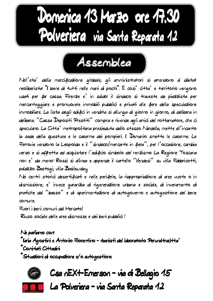 assemblea 13 marzo